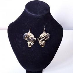Boucles d'oreilles en cornes