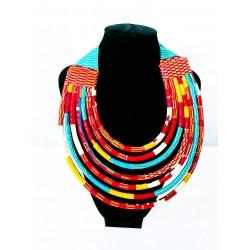 Colliers en wax « Massaï »